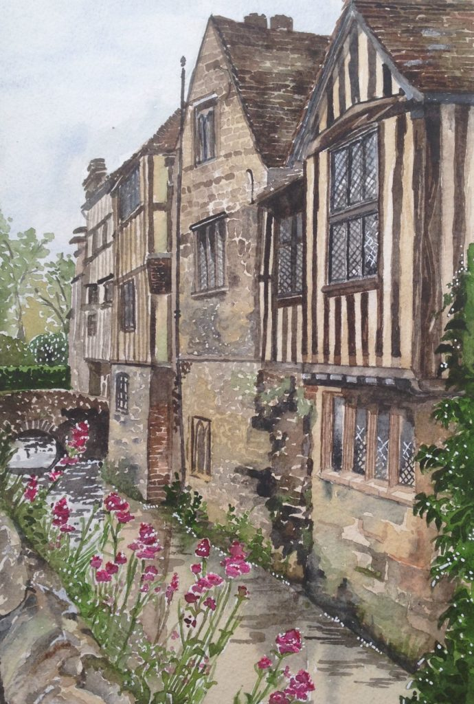 Mote side view,Ightham mote